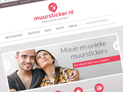 Shoplin.nl - Muursticker.nl is vernieuwd met Ziber DS3 website software